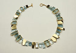 Suzan Rezac. Necklace: aquamarines, 18K green gold