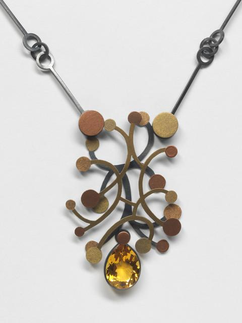 Suzan Rezac. Jewelry. Citrine, mica powder, oxidized silver
