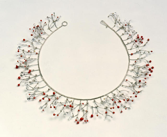 Suzan Rezac. Jewelry. Necklace: platinum, silver, glass